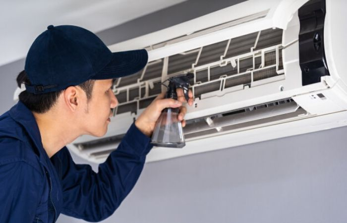 Chemical cleaning of aircon